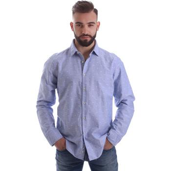 Odjeća Muškarci  Košulje dugih rukava Gmf 962118/03 Plava