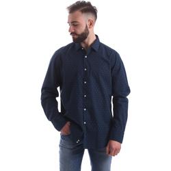 Odjeća Muškarci  Košulje dugih rukava Gmf 962157/06 Plava
