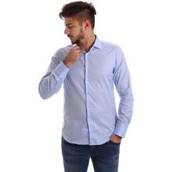 Odjeća Muškarci  Košulje dugih rukava Gmf 962103/03 Plava