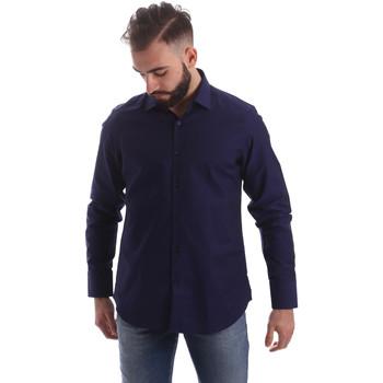 Odjeća Muškarci  Košulje dugih rukava Gmf 962103/05 Plava