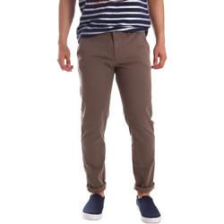 Odjeća Muškarci  Chino hlačei hlače mrkva kroja Gaudi 71FU25005 Smeđa