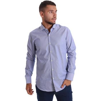 Odjeća Muškarci  Košulje dugih rukava Gmf 971263/01 Plava