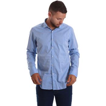 Odjeća Muškarci  Košulje dugih rukava Gmf 971208/03 Plava