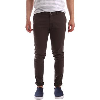 Odjeća Muškarci  Chino hlačei hlače mrkva kroja Sei3sei PZV21 7183 Smeđa