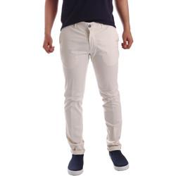 Odjeća Muškarci  Chino hlačei hlače mrkva kroja Sei3sei PZV21 7148 Bijela