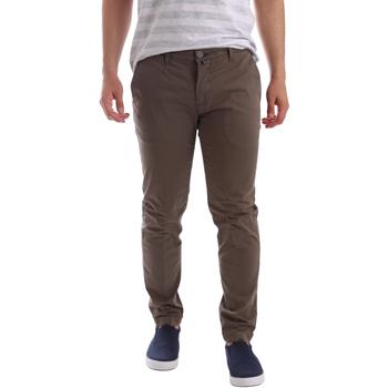 Odjeća Muškarci  Chino hlačei hlače mrkva kroja Sei3sei PZV89 7147 Smeđa