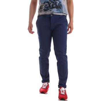 Odjeća Muškarci  Chino hlačei hlače mrkva kroja Sei3sei PZV89 71336 Plava