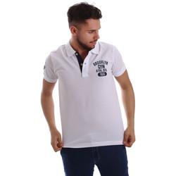 Odjeća Muškarci  Polo majice kratkih rukava Key Up 255QG 0001 Bijela