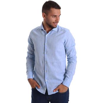 Odjeća Muškarci  Košulje dugih rukava Gmf 971306/02 Plava