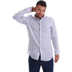 Odjeća Muškarci  Košulje dugih rukava Gmf 971312/01 Plava