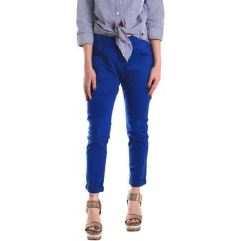 Odjeća Žene  Chino hlačei hlače mrkva kroja Fornarina SE171L75G29112 Plava