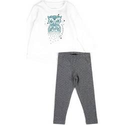 Odjeća Djevojčica Dječji kompleti Losan 626 8026AD Bijela