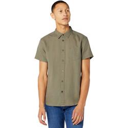 Odjeća Muškarci  Košulje kratkih rukava Wrangler W5J1LOX45 Zelena