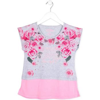 Odjeća Djevojčica Majice kratkih rukava Losan 714 1009AB Siva