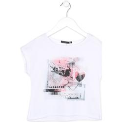 Odjeća Djevojčica Majice kratkih rukava Losan 714 1014AB Bijela
