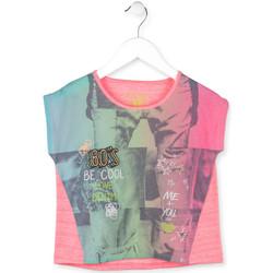 Odjeća Djevojčica Majice kratkih rukava Losan 714 1017AB Ružičasta