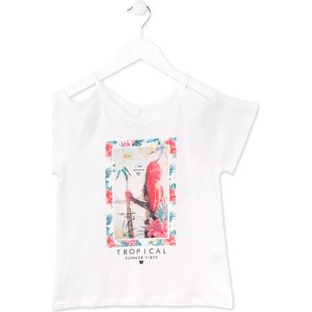 Odjeća Djevojčica Majice kratkih rukava Losan 714 1026AB Bijela