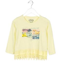 Odjeća Djeca Puloveri Losan 714 1031AB Žuta boja