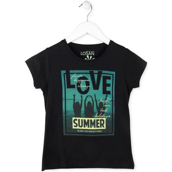 Odjeća Djevojčica Majice kratkih rukava Losan 714 1204AB Crno