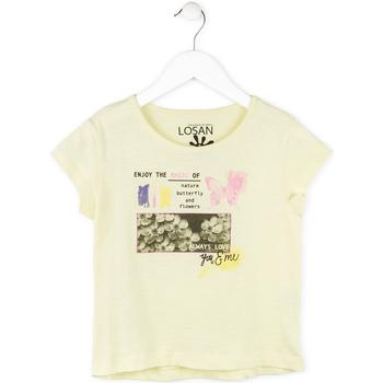 Odjeća Djevojčica Majice kratkih rukava Losan 714 1208AB Žuta boja