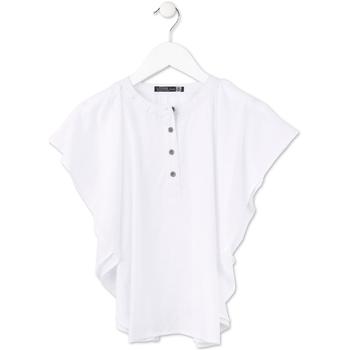 Odjeća Djevojčica Topovi i bluze Losan 714 3002AB Bijela