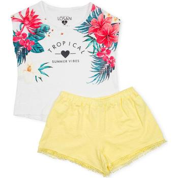 Odjeća Djevojčica Dječji kompleti Losan 714 8015AB Bijela
