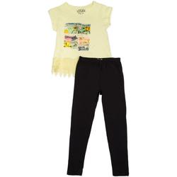 Odjeća Djevojčica Dječji kompleti Losan 714 8018AB Žuta boja
