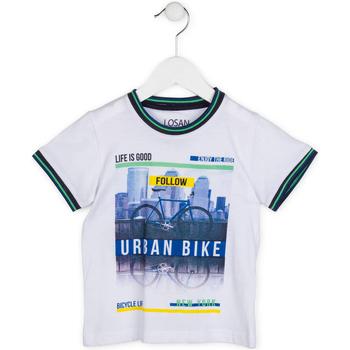 Odjeća Dječak  Majice kratkih rukava Losan 715 1013AC Bijela
