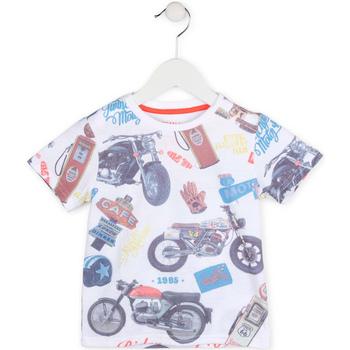 Odjeća Dječak  Majice kratkih rukava Losan 715 1017AC Bijela