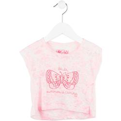 Odjeća Djevojčica Majice kratkih rukava Losan 716 1011AD Ružičasta