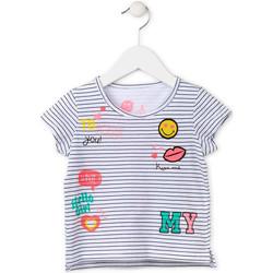 Odjeća Djevojčica Majice kratkih rukava Losan 716 1033AD Bijela