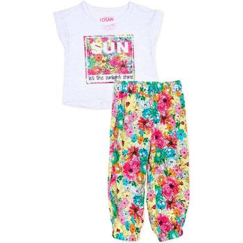 Odjeća Djevojčica Dječji kompleti Losan 716 8000AD Bijela