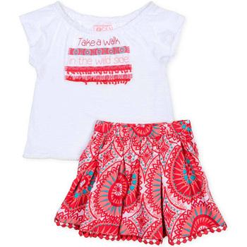 Odjeća Djevojčica Dječji kompleti Losan 716 8010AD Bijela