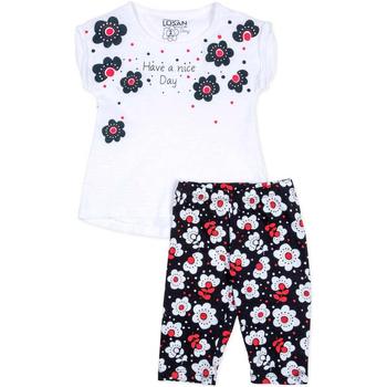 Odjeća Djevojčica Dječji kompleti Losan 716 8012AD Bijela