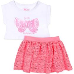 Odjeća Djevojčica Dječji kompleti Losan 716 8016AD Bijela
