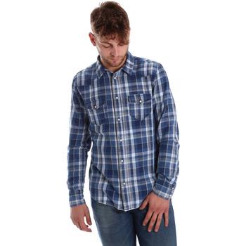 Odjeća Muškarci  Košulje dugih rukava Gaudi 721BU46008 Plava