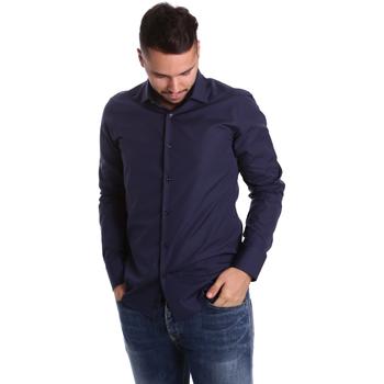 Odjeća Muškarci  Košulje dugih rukava Gmf 972900/04 Plava