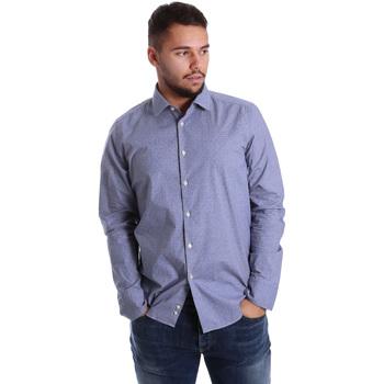 Odjeća Muškarci  Košulje dugih rukava Gmf 972144/01 Plava