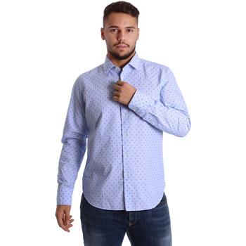 Odjeća Muškarci  Košulje dugih rukava Gmf 972158/01 Plava