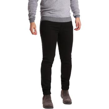 Odjeća Muškarci  Hlače s pet džepova Sei3sei PZV17 7257 Crno