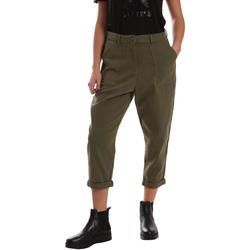 Odjeća Žene  Chino hlačei hlače mrkva kroja Tommy Hilfiger DW0DW02588 Zelena