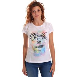 Odjeća Žene  Majice kratkih rukava Key Up 5D59S 0001 Bijela