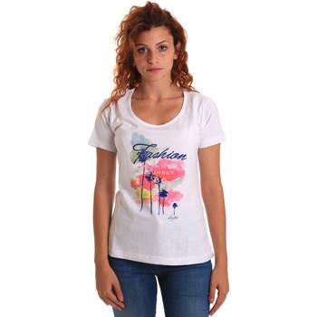 Odjeća Žene  Majice kratkih rukava Key Up 5D58S 0001 Bijela