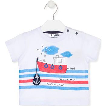 Odjeća Djeca Majice kratkih rukava Losan 017-1004AL Bijela
