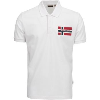 Odjeća Muškarci  Polo majice kratkih rukava Napapijri NP0A4E2K Bijela