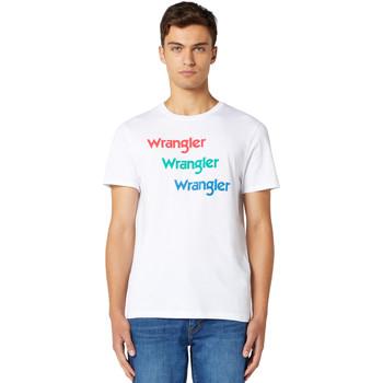 Odjeća Muškarci  Majice kratkih rukava Wrangler W7D7D3989 Bijela