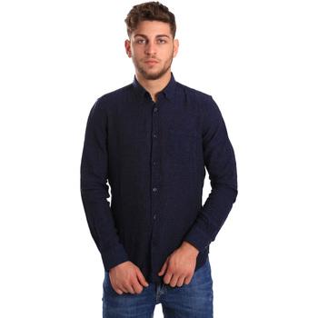 Odjeća Muškarci  Košulje dugih rukava Gas 151200 Plava