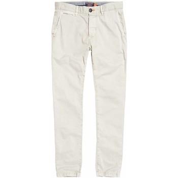 Odjeća Muškarci  Chino hlačei hlače mrkva kroja Superdry M70001TQF2 Bijela