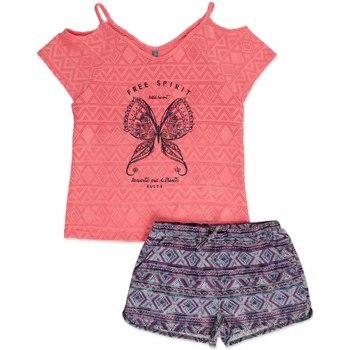 Odjeća Djevojčica Dječji kompleti Losan 814-8022AB Ružičasta