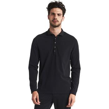 Odjeća Muškarci  Polo majice dugih rukava Gaudi 821FU64012 Crno
